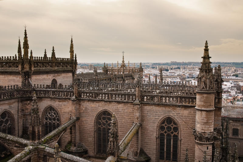 The cathedral of Sevilla, Spain royalty free stock images