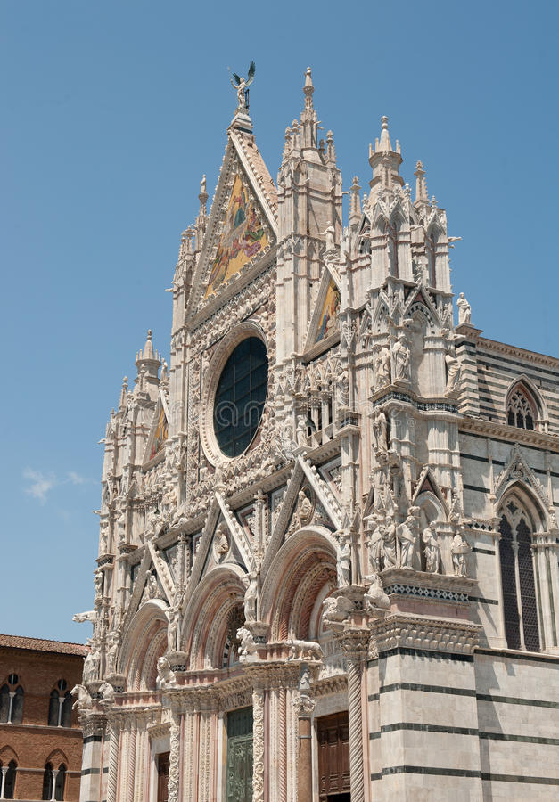 Cathedral in Siena. The Main cathedral in Siena, Tuscany, Italy royalty free stock photography