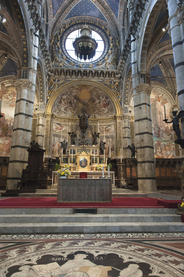 Cathedral of Siena - inside royalty free stock image