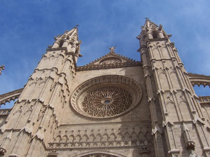 Cathedral in Spain stock photos