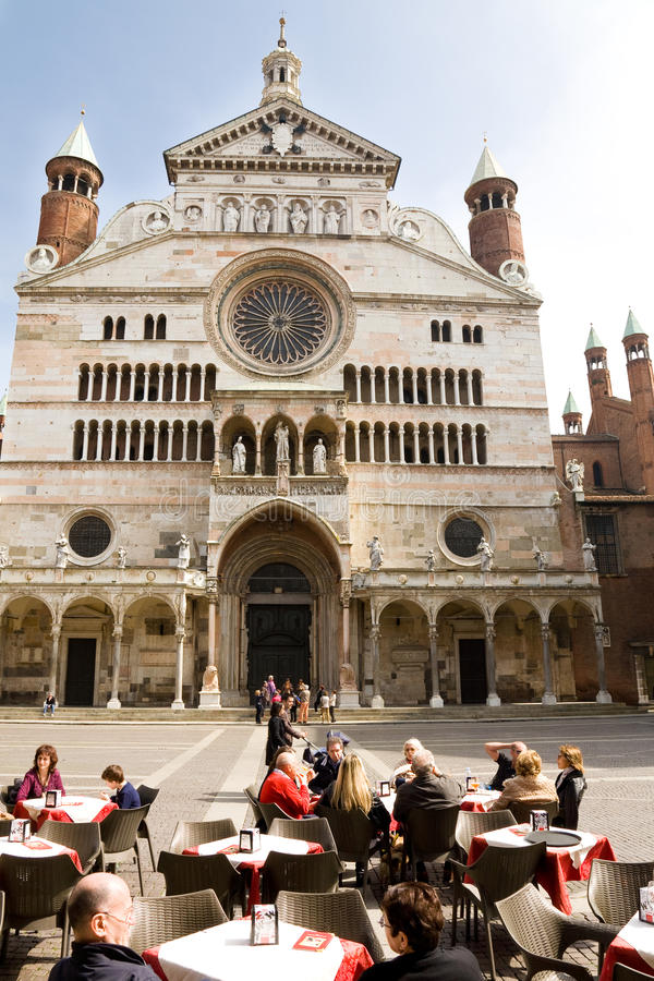 Cathedral Square, Cremona stock photography
