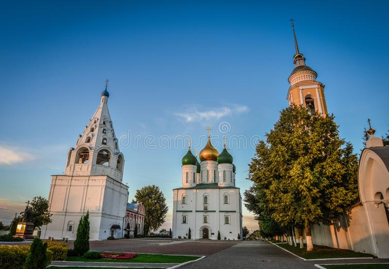 Cathedral Square of the Kolomna Kremlin in the city of Kolomna royalty free stock photo