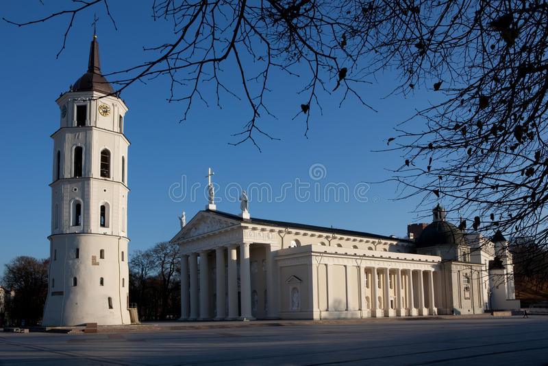 Cathedral square in Vilnius stock photos