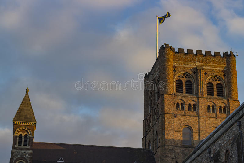 Cathedral of St Albans. Ancient cathedral of St Albans in the United Kingdom stock photo