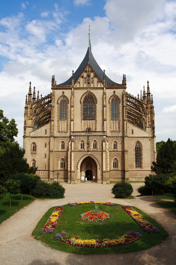 Cathedral Of St. Barbara Royalty Free Stock Photography
