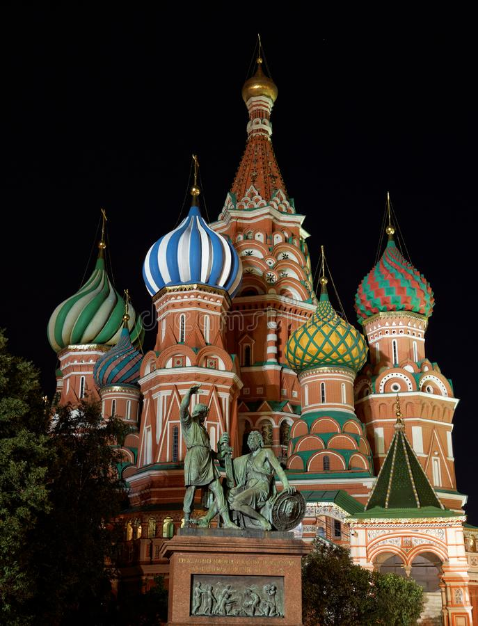 The Cathedral of St. Basil the Blessed stock photos