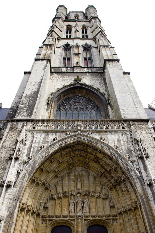Cathedral of St. Bavon, Ghent, Flanders, Belgium royalty free stock photos