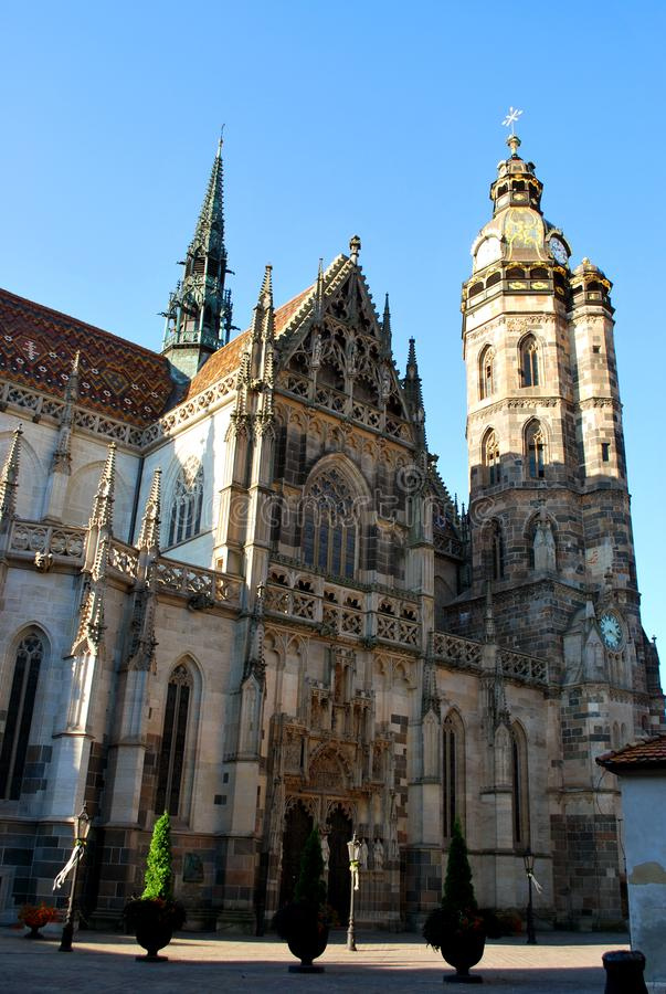 The Cathedral of St. Elisabeth in Kosice royalty free stock image