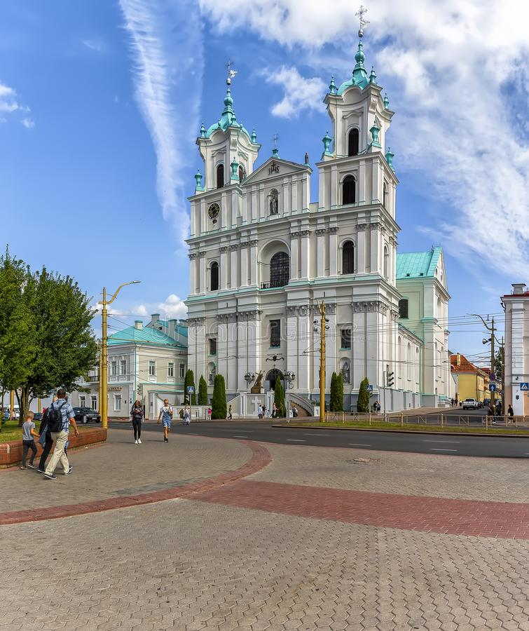 Cathedral of St. Francis Xavier, a Catholic Cathedral in Grodno royalty free stock photography