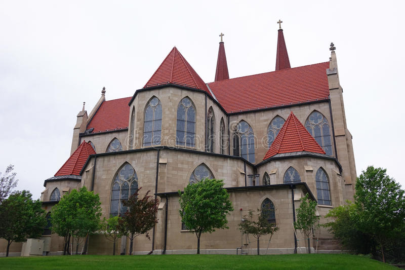Cathedral of St. Helena - Montana. Cathedral of St. Helena has been a landmark in Montana`s capital city by the same name since 1914. It displays Gothic Revival stock images