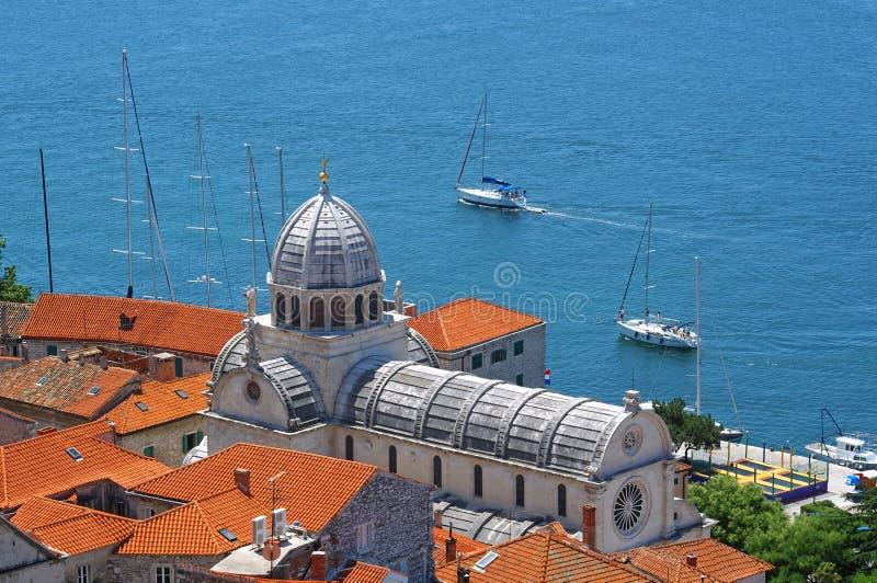 Cathedral of St. James in Sibenik, Croatia. Cathedral of St. James in Sibenik in the day, Croatia royalty free stock photo