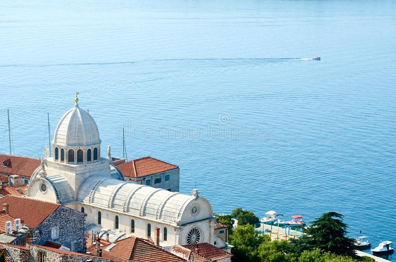 The Cathedral of St. James in Sibenik, important architectural monument of the Renaissance in Croatia stock image