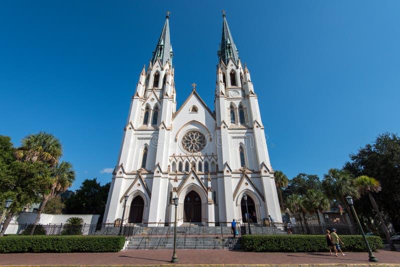 Cathedral of St. John the Baptist in Savannah, GA stock photo