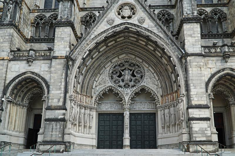 Cathedral of St. John the Divine. The Cathedral of St. John the Divine in New York is a large church in the style of mediaval gothic cathedrals in Europe stock images