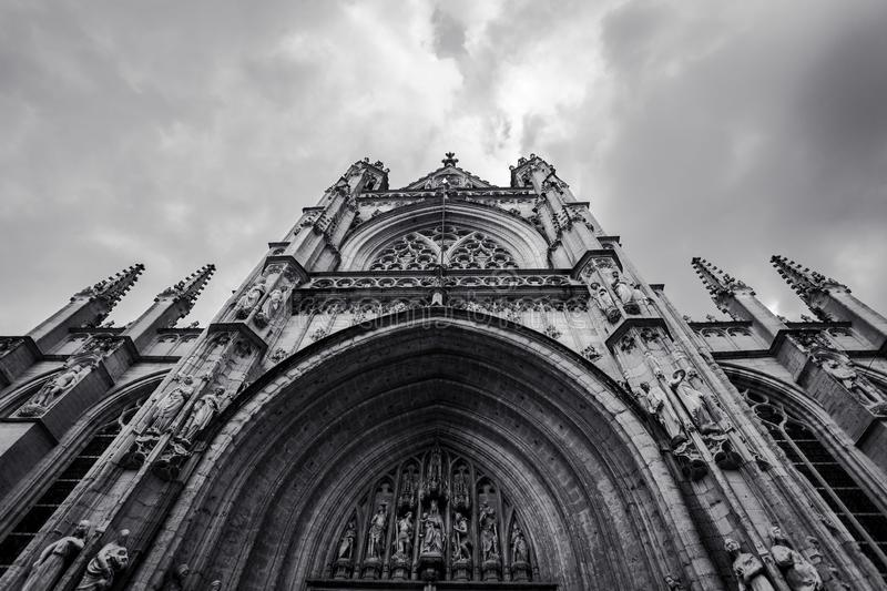 The Cathedral of St. John the Divine, officially the Cathedral Church of Saint John, New York.  royalty free stock photo