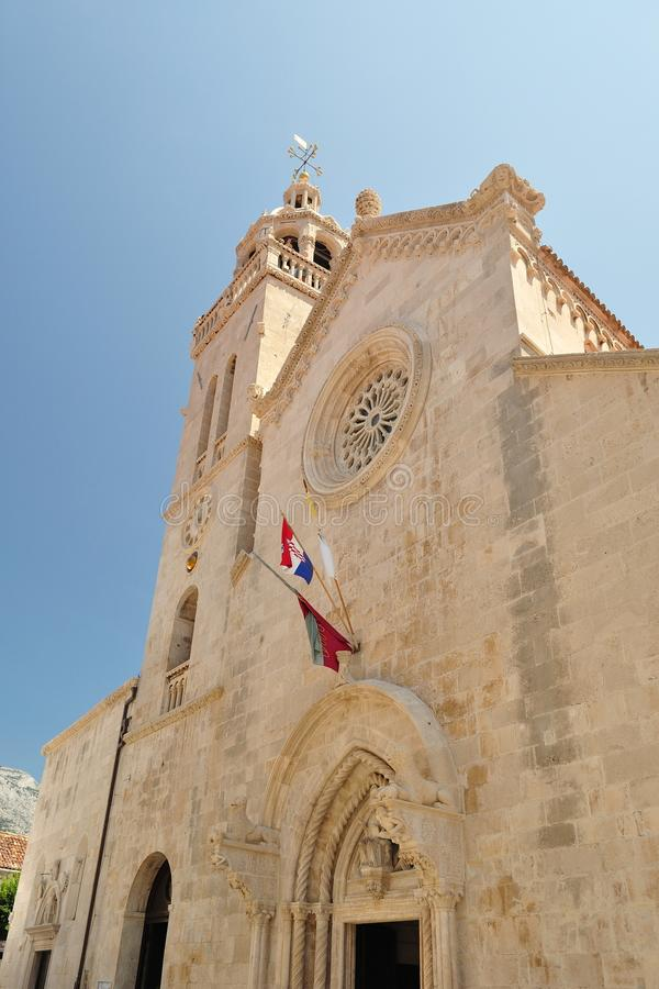 The cathedral of St Marco. Korcula city, Croatia royalty free stock photography