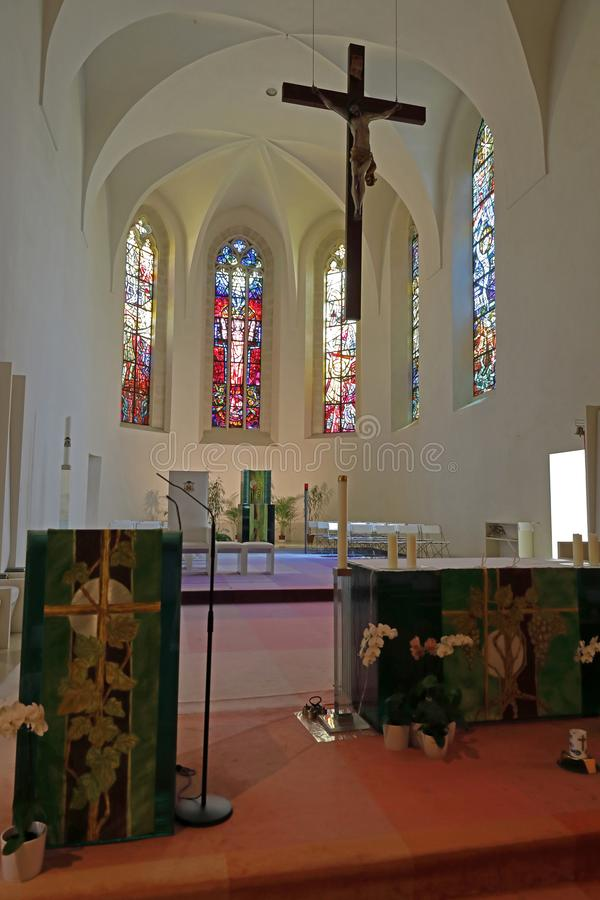 The cathedral St. Martin in Eisenstadt, Austria, main altar. stock photography