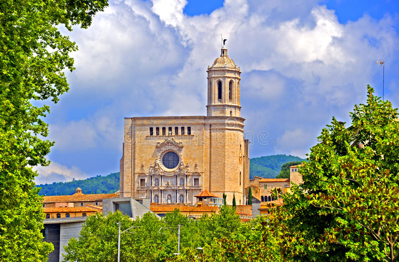 Download Cathedral Of St. Mary In Girona, Spain Stock Photo - Image: 83715238