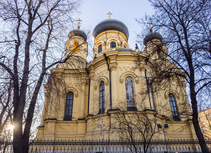 Cathedral of St. Mary Magdalene, Warsaw. The Metropolitan Council of the Holy Equal to the Apostles of Mary Magdalene in Warsaw, a Polish Orthodox cathedral on royalty free stock photo