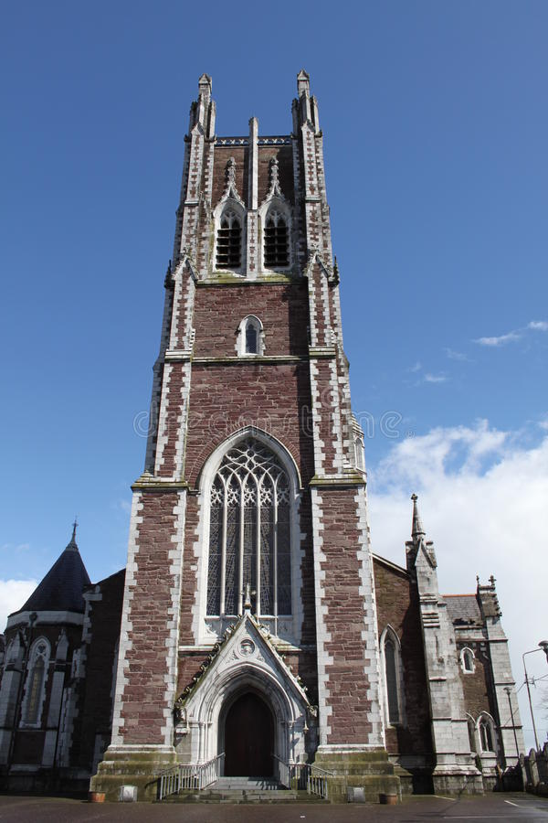 Cathedral of St Mary and St Anne in Cork Ireland. A picture of the Cathedral of St Mary and St Anne in Cork, Ireland on a clear day with clouds, featuring a view royalty free stock photos