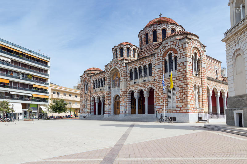 Cathedral of St. Nicholas, Volos, Greece stock image