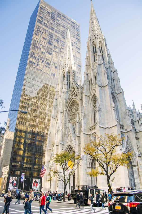 The Cathedral of St. Patrick in New York stock photography