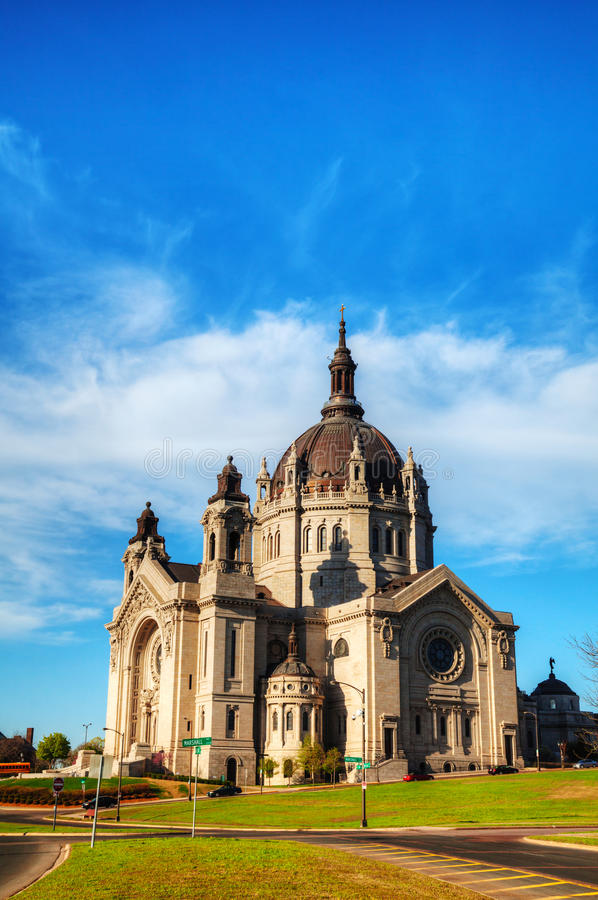 Cathedral of St. Paul, Minnesota royalty free stock photography