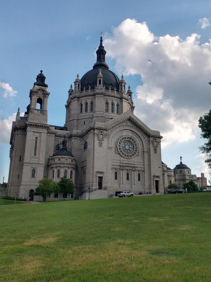 Cathedral of st. Paul Minnesota stock images
