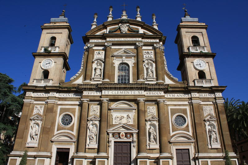 Cathedral of St.Peter Apostle in Frascati (Italy) royalty free stock photos
