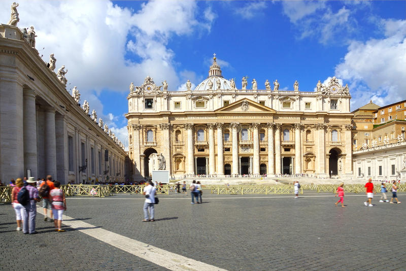 Cathedral of St. Peter, Rome, Italy royalty free stock photo