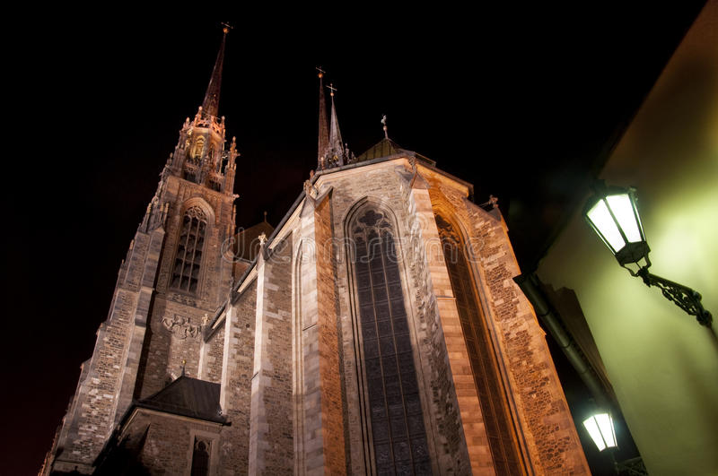 Cathedral of St. Peter and St. Paul in Brno stock image