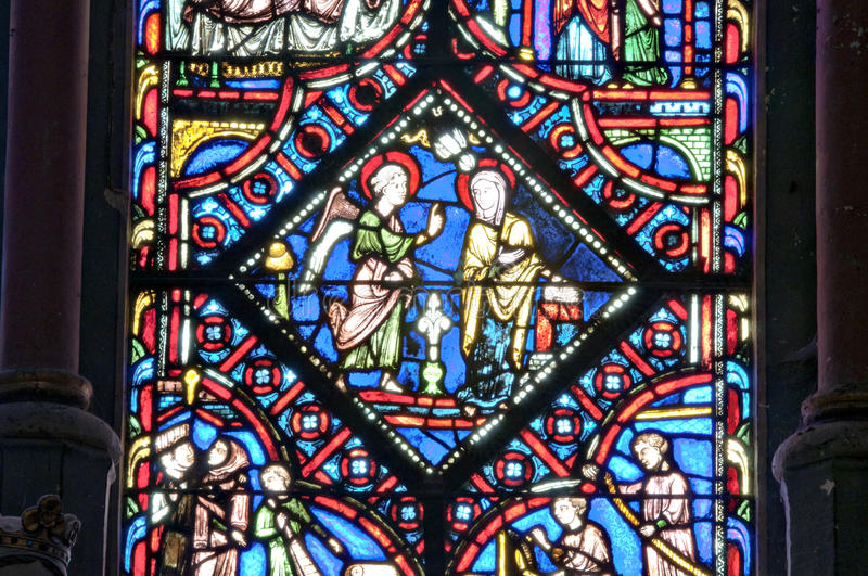 Cathedral St Pierre of Beauvais - interior 13 royalty free stock image