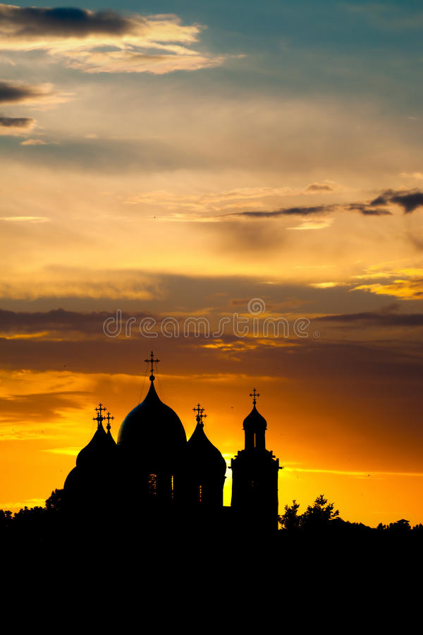 The Cathedral of St. Sophia in Veliky Novgorod. The Cathedral of St. Sophia (the Holy Wisdom of God) in the Kremlin (or Detinets) in Veliky Novgorod, Russia royalty free stock images