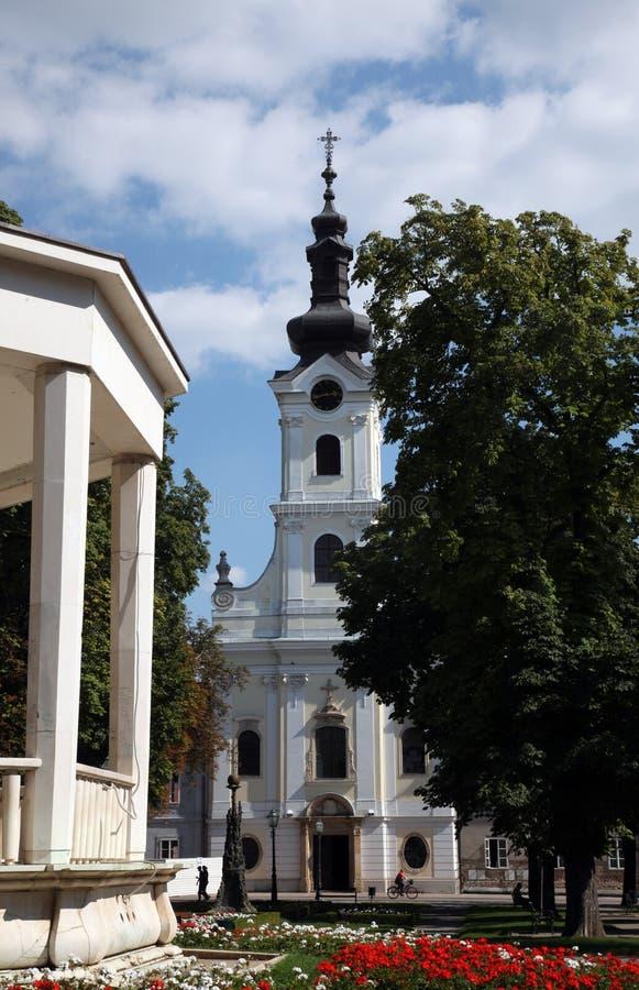 Cathedral of St. Teresa of Avila in Bjelovar, Croatia stock photo