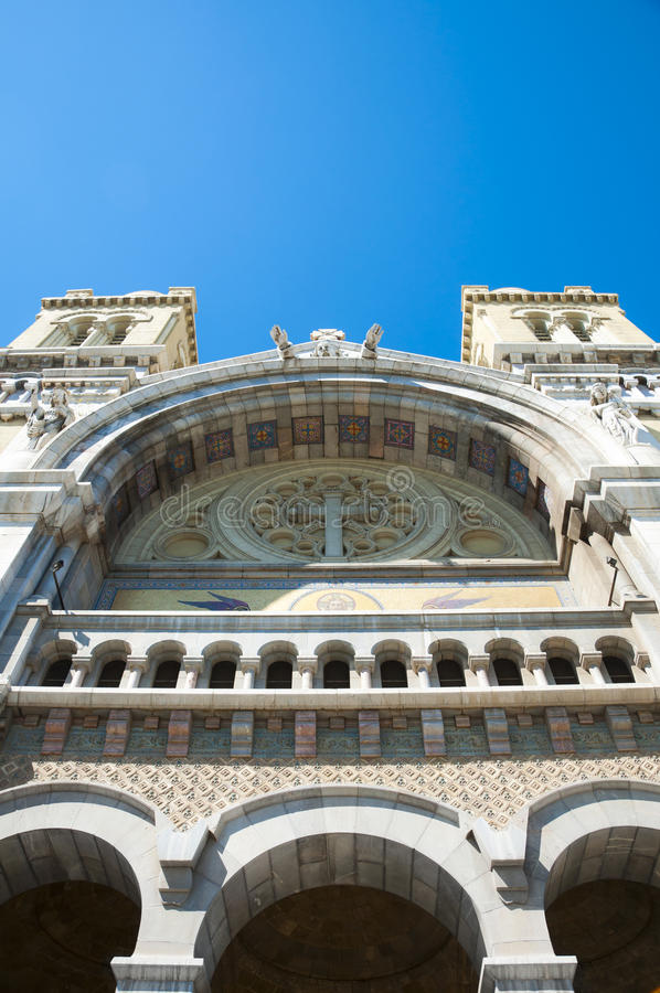 Download Cathedral Of St. Vincent De Paul, Tunis Stock Image - Image of arabian, exterior: 19945259