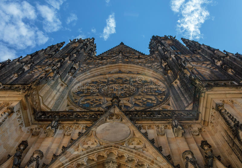 Cathedral of St. Vito, the most beautiful cathedral of Prague stock photography
