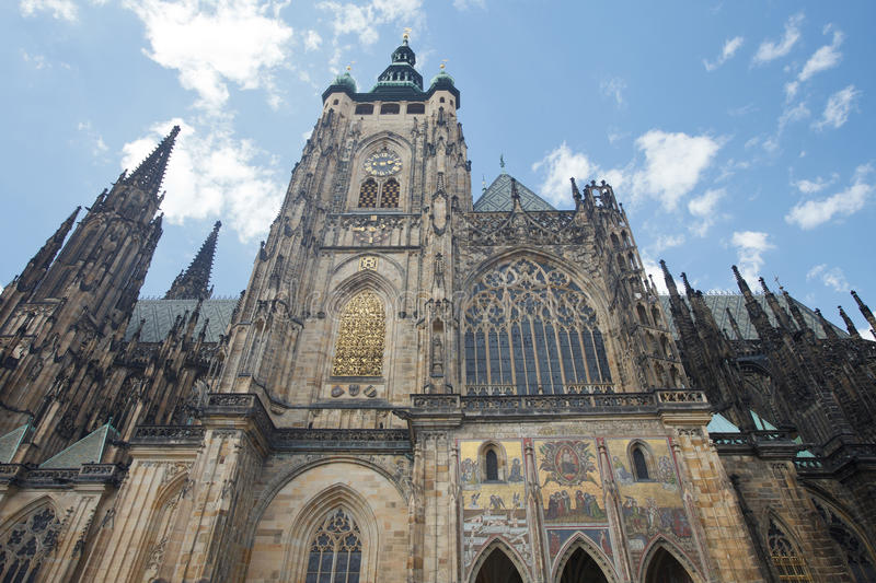 Cathedral of St. Vitus, Wenceslas and Vojtech in Prague Castle. Czech Republic royalty free stock photography
