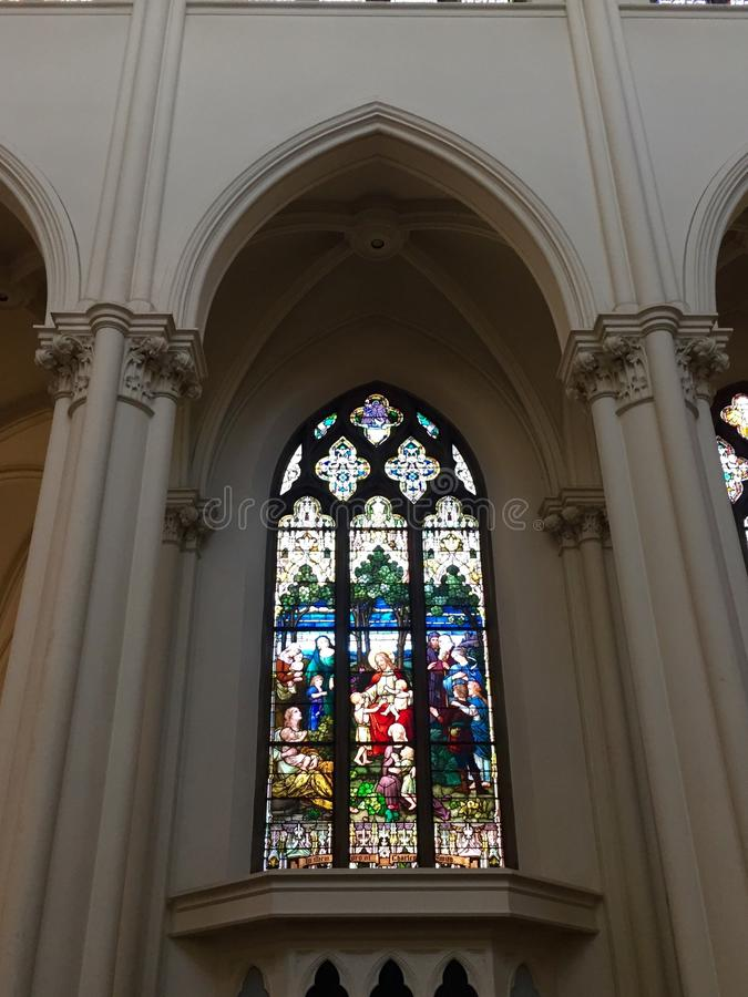 Cathedral Stained glass royalty free stock photo