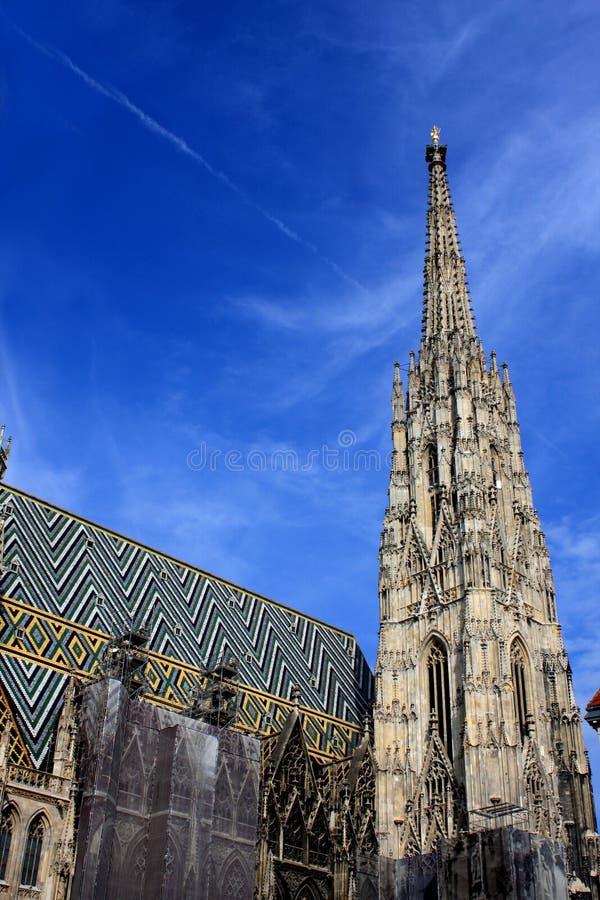 Cathedral on stephansplatz in Vienna, Austria stock images