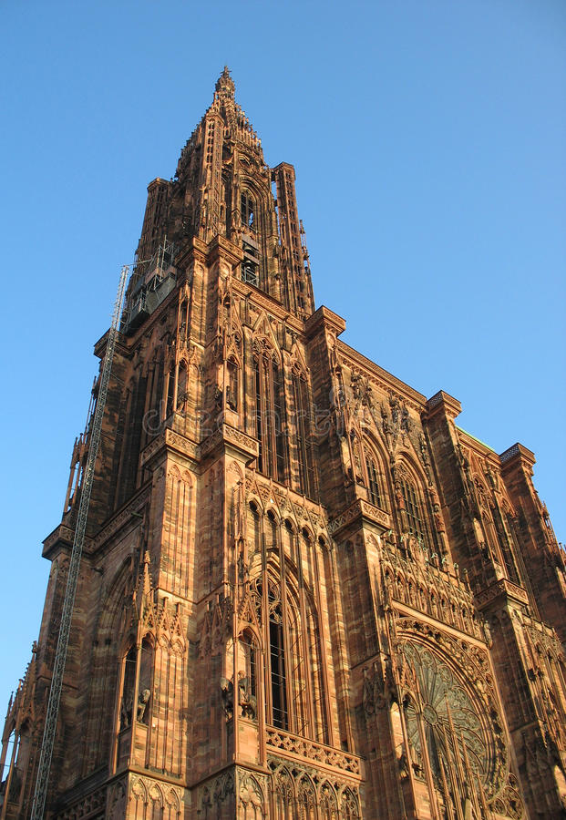 Cathedral Strasbourg stock images