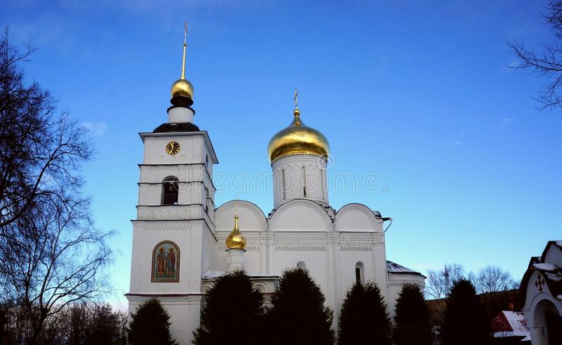 Cathedral of Sts. Boris and Gleb in Dmitrov stock photo