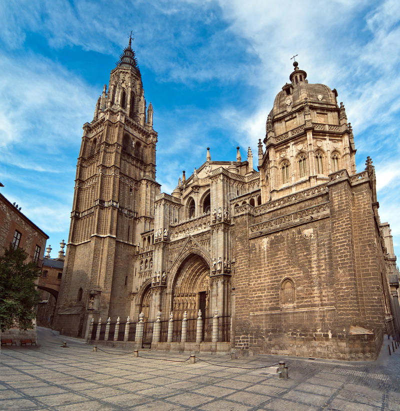 Cathedral in Toledo Spain. Gothic Cathedral in Toledo Spain royalty free stock images