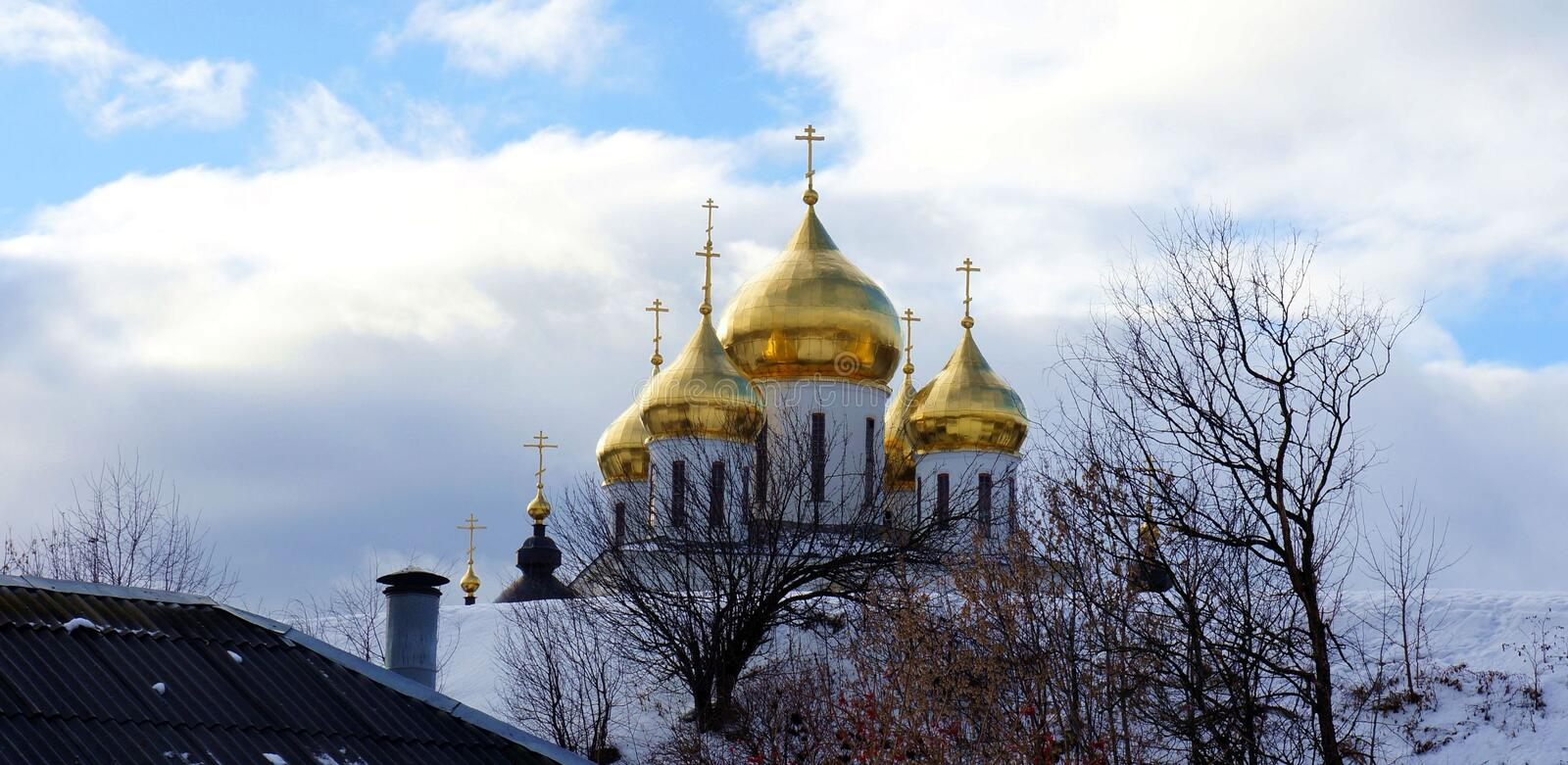 Cathedral in the town fortress in Dmitrov royalty free stock images