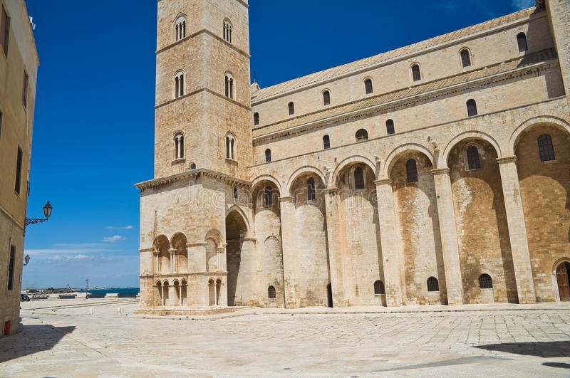 Cathedral of Trani. Puglia. Italy. Perspective of the Cathedral of Trani. Puglia. Italy royalty free stock photos