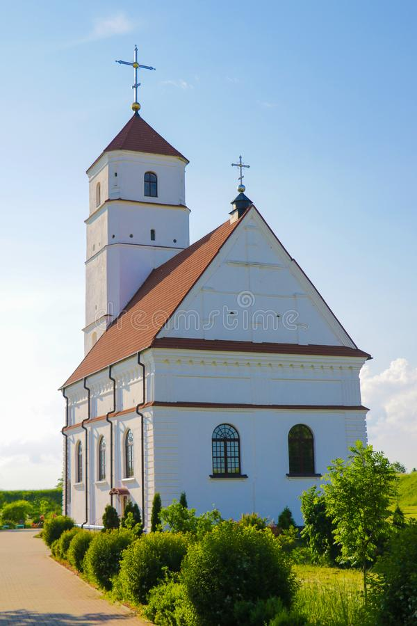 The Cathedral of the Transfiguration of Our Lord - the second cathedral of the Minsk Diocese of the Belarusian Orthodox Church royalty free stock photos