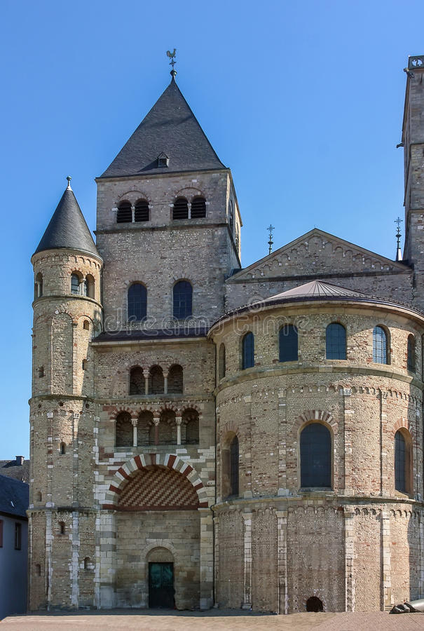 The Cathedral in Trier, Germany. The Cathedral of Saint Peter in Trier, Germany. It is the oldest cathedral in the country royalty free stock photos