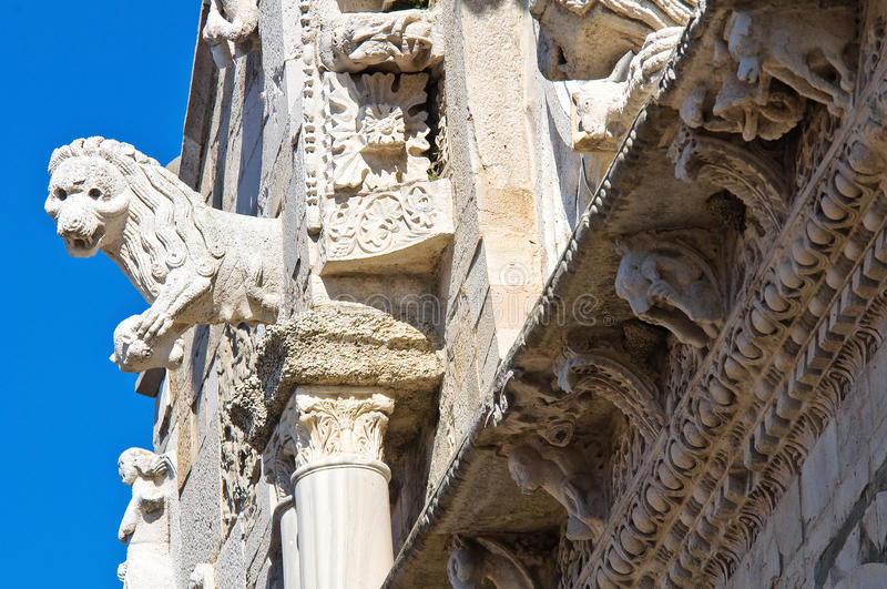 Cathedral of Troia. Puglia. Italy. Closeup of the Cathedral of Troia. Puglia. Italy royalty free stock images