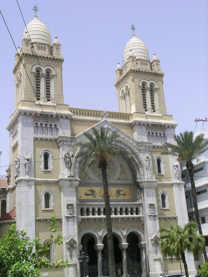 Download Cathedral in Tunis stock photo. Image of architecture, tunisia - 949034