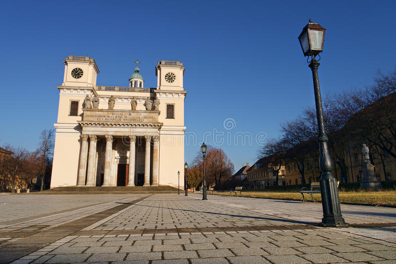The cathedral in Vac, Hungary. stock images