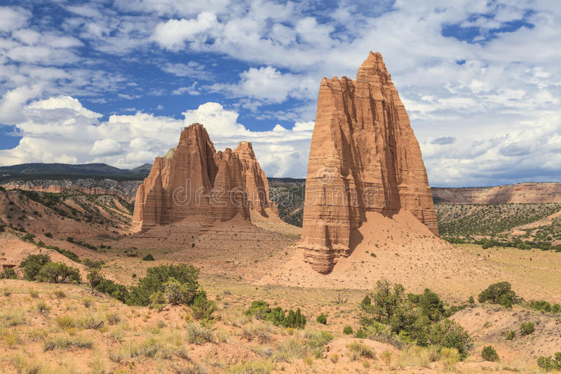 Cathedral Valley, Capitol Reef National Park royalty free stock photography
